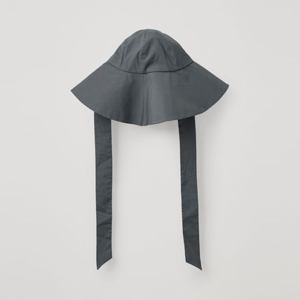 COS LARGE BRIM HAT WITH TIES