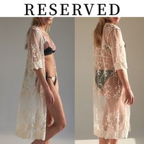 【RESERVED(リザーブド)】Lace cotton blend poncho