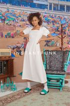 [ INSTANTFUNK ] 20SS Square Neck Long Dress (White)
