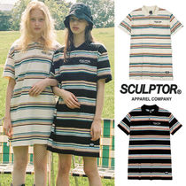★SCULPTOR★韓国 ボーダー ワンピース COLLARED TENNIS DRESS