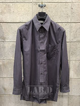 LEMAIRE(ルメール) シャツ LEMAIRE ◆ STRAIGHT COLLAR SHIRT メンズシャツ カーボングレー
