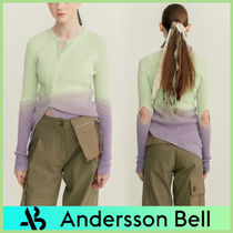 【ANDERSSON BELL】PIECE DYED ASYMMETRIC CUT-OUT カーディガン
