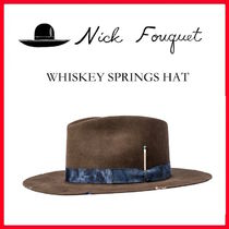 ☆【NICK BOUQUET】ニックフーケ WHISKEY SPRINGS HAT/BROWN