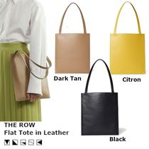 【SS20/関税込】THE ROW Flat レザー トート 3color