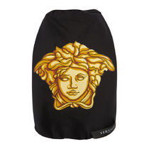 【ヴェルサーチ】Medusa Dog T-Shirt  Black/Gold - Small