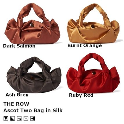 The Row ハンドバッグ 【大人気/関税込】THE ROW Ascot Two シルク バッグ 4color