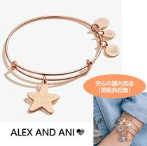 Alex and Ani(アレックス アンド アニ) ブレスレット ALEX AND ANI★Wish Upon a Star Charm Bangle Shiny Rose Gold