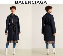 [関税・送料込] BALENCIAGA☆Navy Bibbed Trench Coat