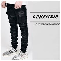 【LAKENZIE】☆送料/関税込み☆ LEATHER CARGO DENIM