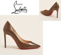 CHRISTIAN LOUBOUTIN☆Taupe Pigalle Pointed Toe Chic Patent