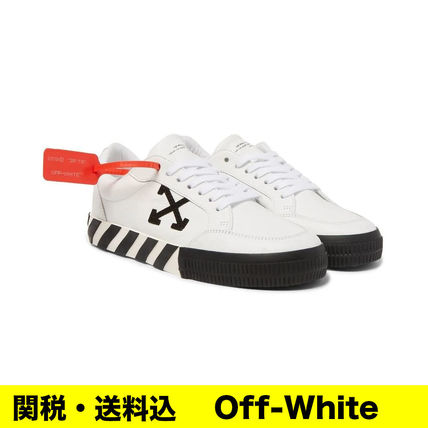 OFF-WHITE VULC LOW レザースニーカー