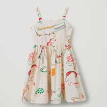 "COS(コス) キッズワンピース・オールインワン ""COS KIDS"" RUCHED COTTON DRESS MULTICOLORED"