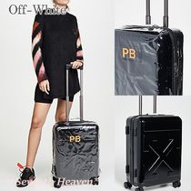送料込み★Off-White Arrow Trolley Suitcase