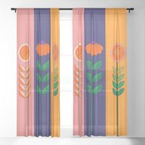日本未入荷・送料無料 Springtime Jackpot Sheer Curtain