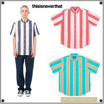 日本未入荷THISISNEVERTHATのBIG Striped S / S Shirt 全3色