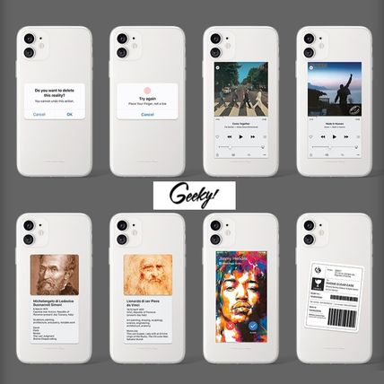 Geeky スマホケース・テックアクセサリー 【GEEKY】Message Case 全16種 iPhone,Galaxy Clear Case