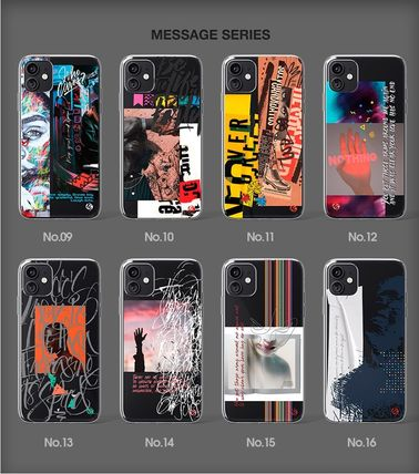 Geeky スマホケース・テックアクセサリー 【GEEKY】Message Case 全16種 iPhone,Galaxy Clear Case(3)