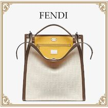 FENDI☆キャンバスバッグ PEEKABOO X-LITE FIT 2WAY White