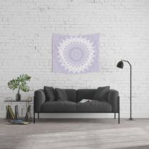 日本未入荷・送料無料 Boho Pastel Purple Mandala Wall Tapestr