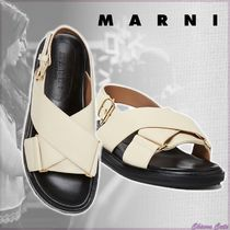 【20SS NEW】MARNI_women/ FUSSBETT A INCROCIO IN VITELLO / 白