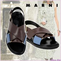 【20SS NEW】MARNI_women / FUSSBETT IN CAPRETTO MARRONE E BLU