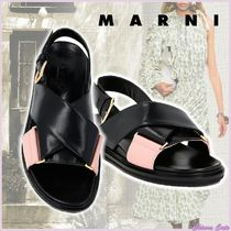 【20SS NEW】MARNI_women / FUSSBETT IN CAPRETTO NERO E CIPRIA