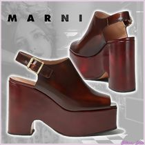 【20SS NEW】MARNI_women/ZEPPA IN VITELLO SPAZZOLATO /Marrone