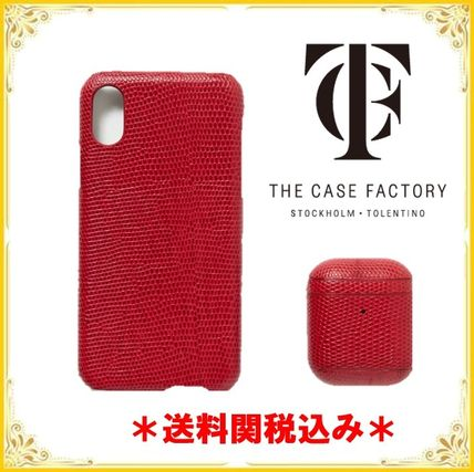 THE CASE FACTORY スマホケース・テックアクセサリー *送料関税込み* THE CASE FACTORY iPhoneX AirPods ケースセット