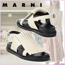 【20SS NEW】MARNI_women/ FUSSBETT IN VITELLO CON FRANGIA /白