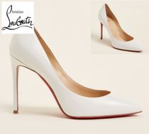 CHRISTIAN LOUBOUTIN☆White Pigalle Pointed Toe Leather Pumps