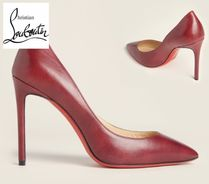 CHRISTIAN LOUBOUTIN☆Bordeaux Pigalle Pointed  Leather Pumps