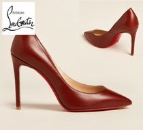 CHRISTIAN LOUBOUTIN☆Rust Pigalle Pointed Toe Leather Pumps