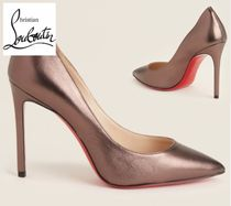 CHRISTIAN LOUBOUTIN☆Smog Pigalle Pointed Toe Metallic Pumps