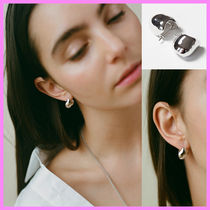 【A BIT MOR】Square Clay Earring〜ピアス★プールや海で着用可