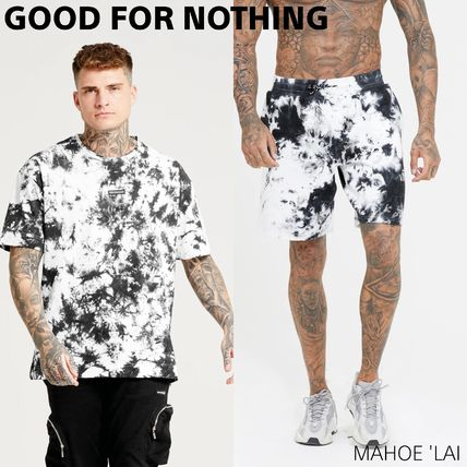 GOOD FOR NOTHING セットアップ GOOD FOR NOTHING 半袖 セットアップ 上下 Tie Dye Black