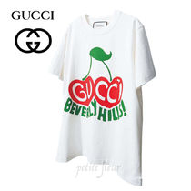 GUCCI 2020SS 雑誌掲載 プリントTシャツ チェリー クルーネック