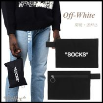 *Off White*Socks Pouch 関税/送料込