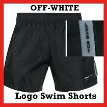 OFF-WHITE Logo Swim Shorts Black / White SS 20 2020