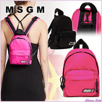 【20SS NEW】MSGM_women/SMALL BACKPACK WITH LOGO/PINK BLACK系