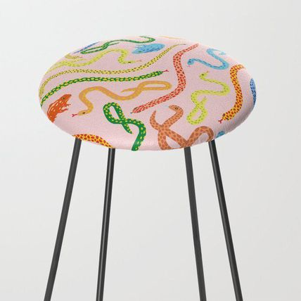 Society6 椅子・チェア 日本未入荷・送料無料 Snakes and Frogs Counter Stool