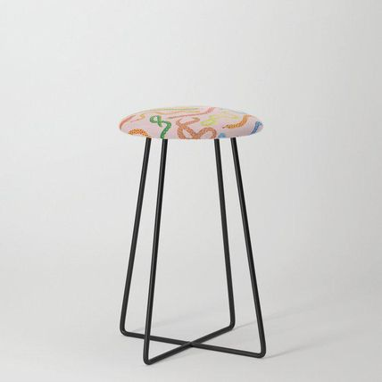 Society6 椅子・チェア 日本未入荷・送料無料 Snakes and Frogs Counter Stool(2)