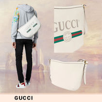 GUCCI GGレザープリント ボディバッグ