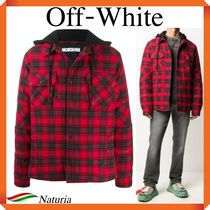 OFF WHITE Plaid Hooded Jacket