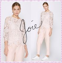 Joie★Charnette Lace Floral クロシェレース ブラウス 7分袖