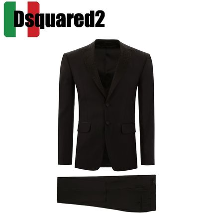 D SQUARED2 スーツ ディースクエアード LONDON FIT SUIT WITH CRYSTALS