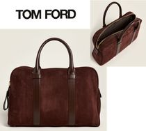 TOM FORD☆Burgundy Buckley Trapeze Suede Briefcase