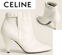 [関税・送料込] CELINE☆Elasticized Leather Ankle Booties