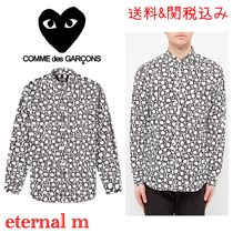 関税送料込み★COMME DES GARCONS BLACK ALL OVER PRINT SHIRT