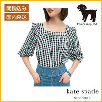 【Kate Spade】gingham voile top ギンガムトップス◆国内発送◆