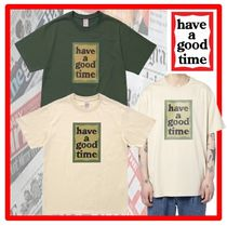have a good time(ハブアグットタイム) Tシャツ・カットソー ★韓国の人気★have a good time★Military Frame S/S Tee★2色